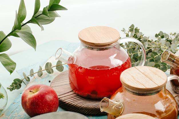 Ассорти фруктовый чай в стеклянных горшочках