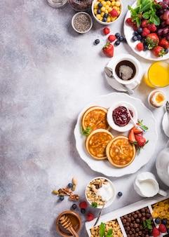 Assorted healthy breakfast