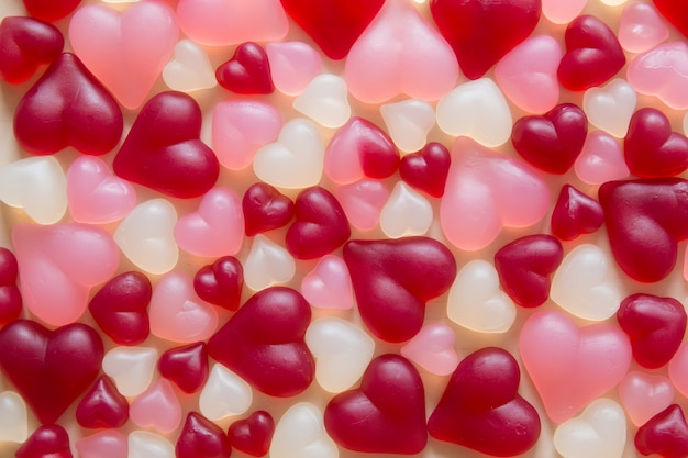 Assorted heart shaped jelly candy