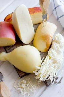 Домашнее сырное ассорти pasta filata