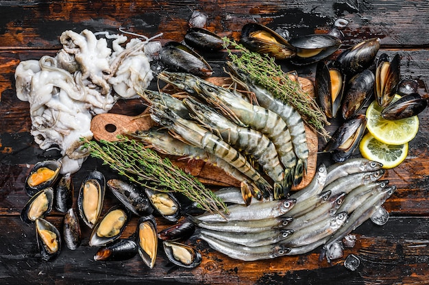 Ассорти из свежих морепродуктов