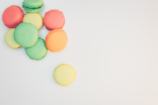 Assorted sweet pastel color macaroons