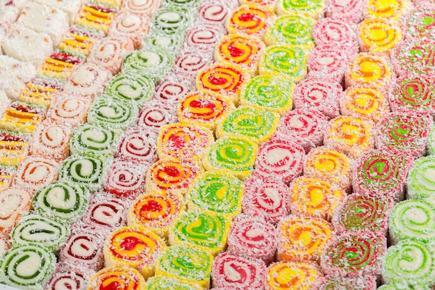 Assorted traditional turkish delight