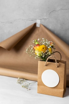 Assortment of beautiful mother's day elements