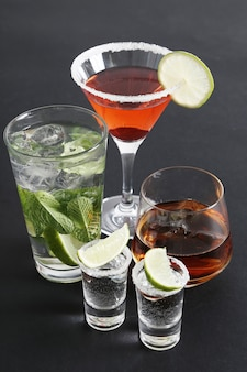 Assortment of cocktails