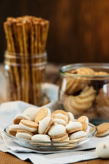 Assortment of cookies and crackers