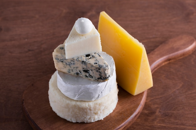 Assortment of delicious cheese