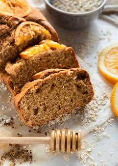 Assortimento di deliziose ricette salutari con le arance