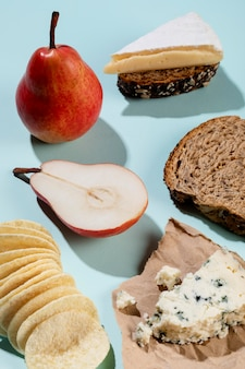 Assortment of delicious healthy snacks