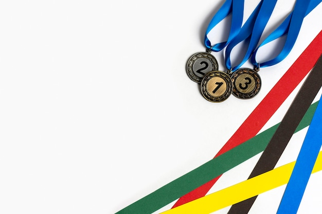 Assortment of different olympics medals