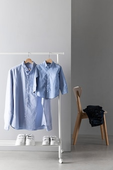 Assortment of father and son clothing