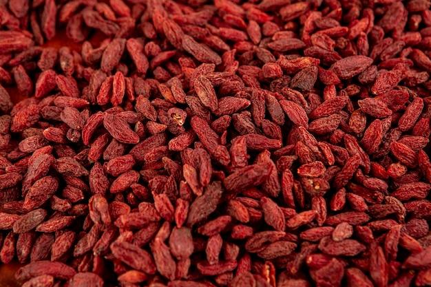 Assortment of healthy dried goji berries