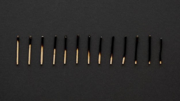 Assortment of matches representing a graph