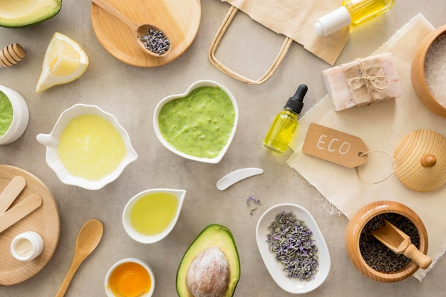 Assortment of natural beauty and health spa concept