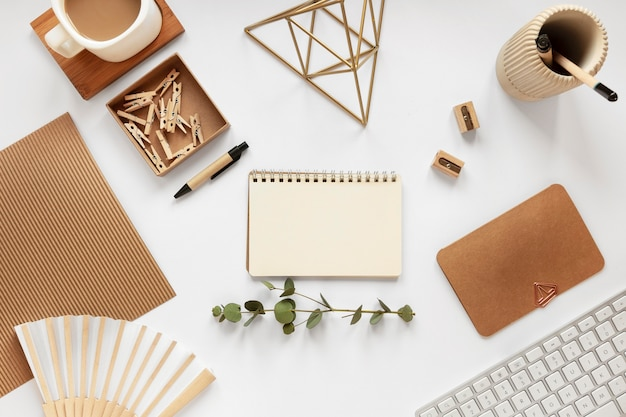Assortment of natural material stationery