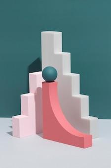 추상적 인 3d 디자인 요소의 구색