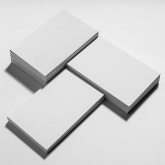 Ассортимент пустых визитных карточек