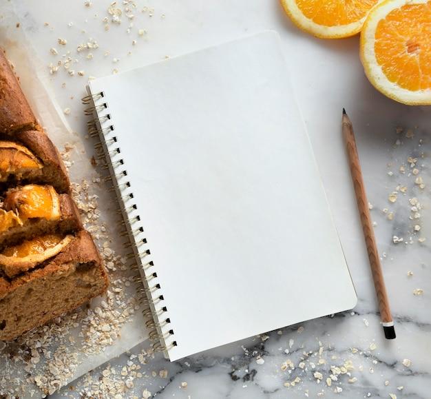 Ассортимент вкусного здорового рецепта с апельсинами