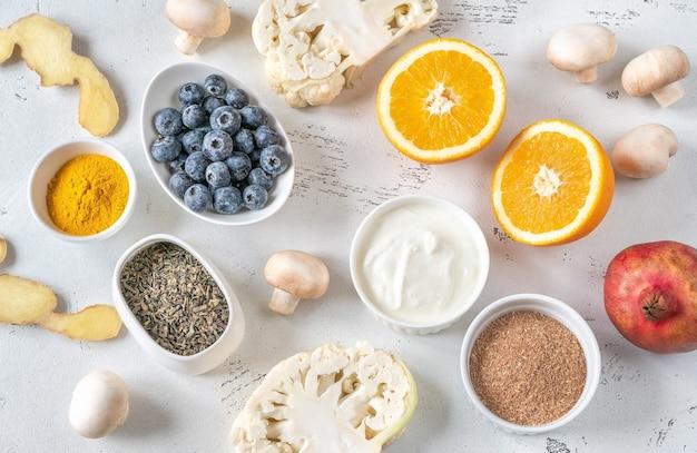 免疫システムを高める食品の品揃え
