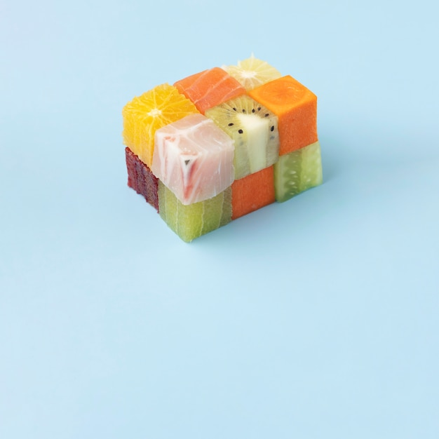 Ассортимент замороженных продуктов с копией пространства