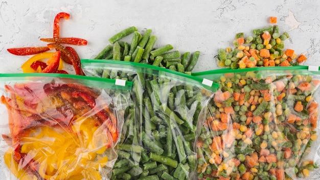 冷凍健康食品の品揃え