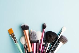 Assortment of makeup brushes