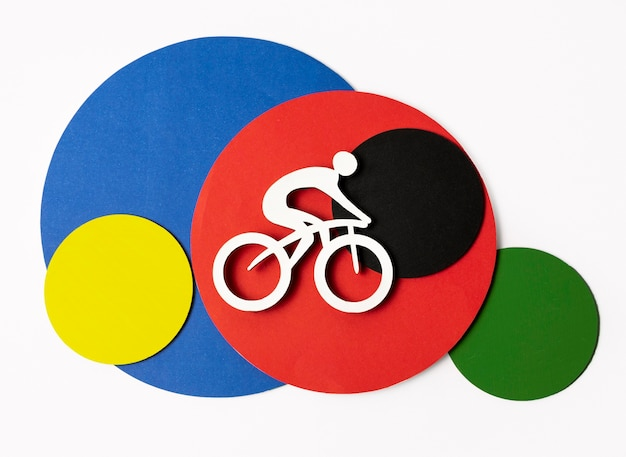 다양한 종이 스타일 올림픽 모양