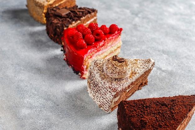 케이크의 구색.
