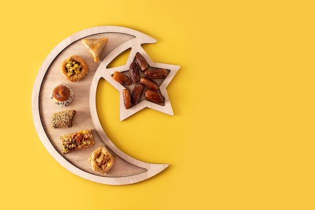 Ассортимент десертной пахлавы рамадан