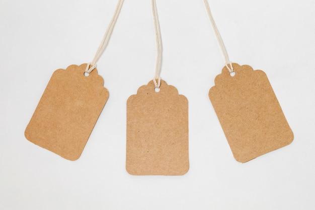 リサイクル可能な包装タグの品揃え