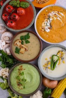 野菜の秋のクリームスープの品揃え