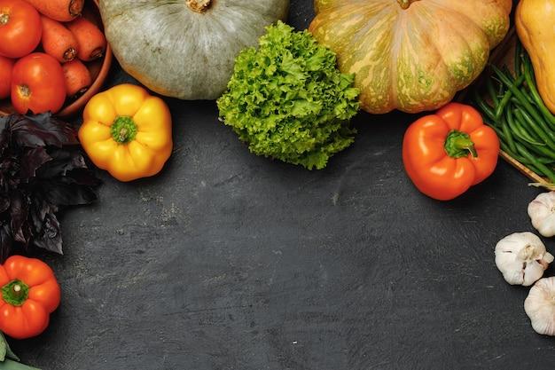 カボチャを含む野菜の品揃え