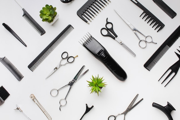 Assortment of professional hair tools