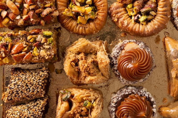 Assortment of ramadan dessert baklava