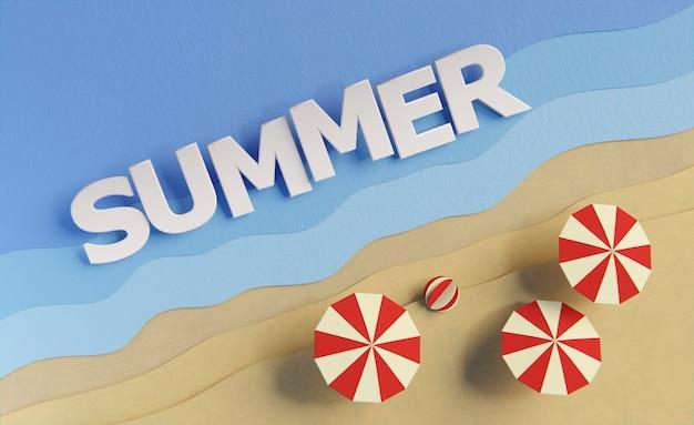 Assortment of summer still life elements