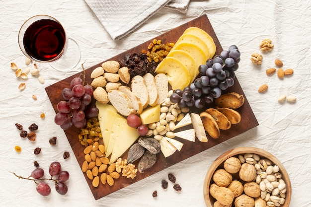 Assortment of tasty snacks on a table