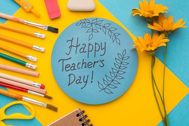 Assortimento di elementi per la giornata dell'insegnante