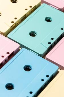 Assortment of vintage cassette tapes