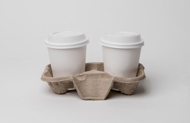 Assortment with cardboard cup holder