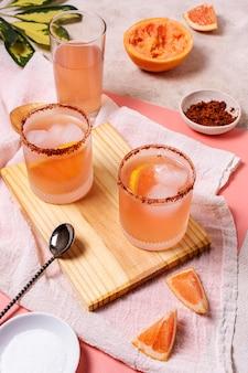 美味しいメスカル飲料の盛り合わせ