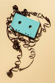 Assortment with vintage cassette tape