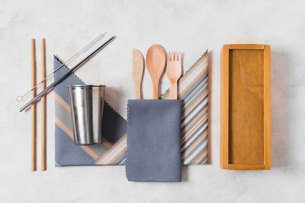 Assortment of zero waste products