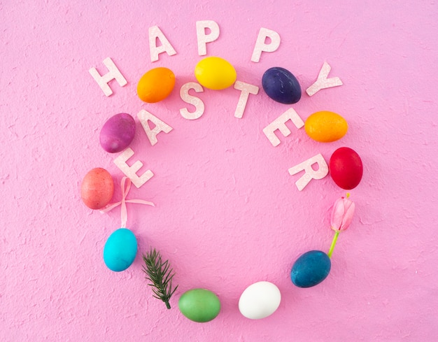 Aster holiday decorations , easter concept background