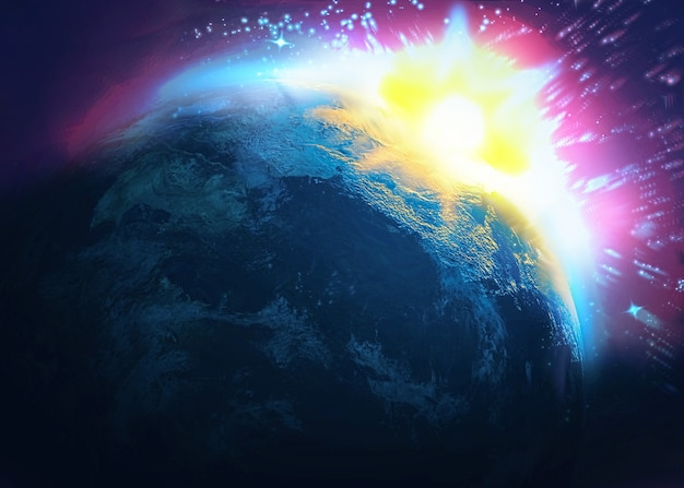 小惑星の衝突、世界の終わり