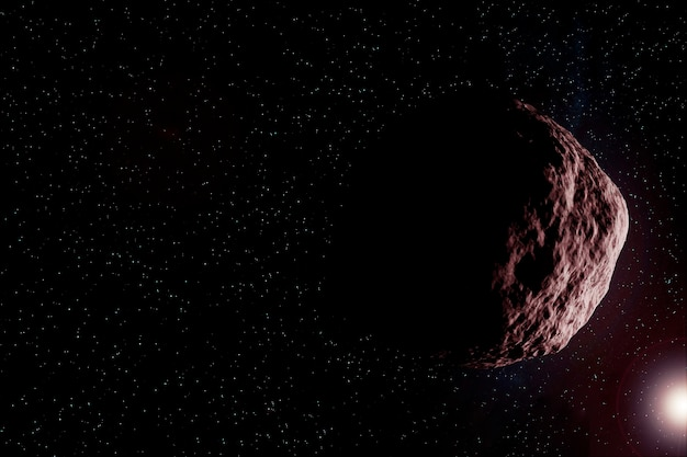 An asteroid in space. elements of this image were furnished by nasa. for any purpose.