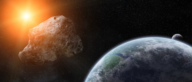 Угроза астероидов над планетой земля
