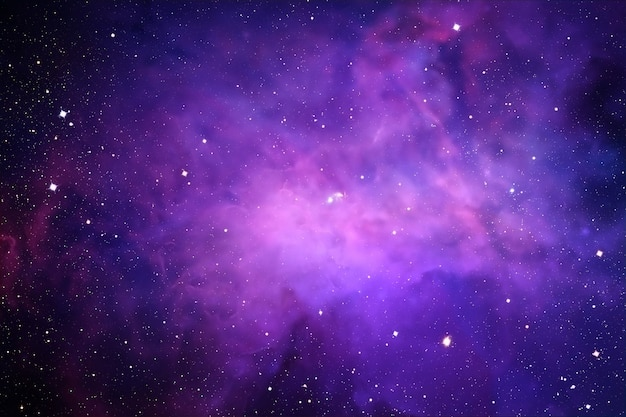 Astral space with bright nebula.