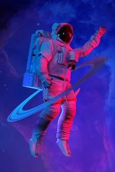 宇宙飛行士。 3dレンダリング。