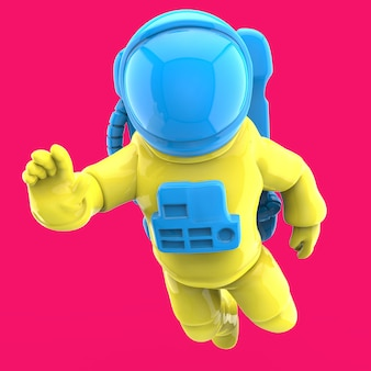 Astronaut in space - 3d illustration