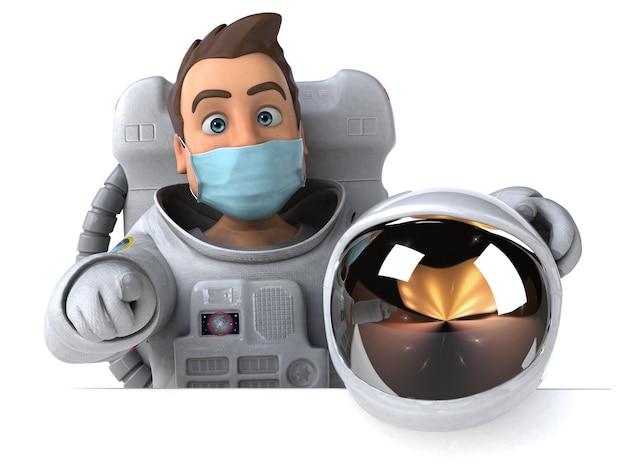 Астронавт с маской